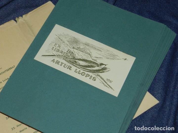 Arte: (MF) VI CONGRESO EUROPEO DE EXLIBRIS - JULIO 1958 BARCELONA, COLECCIÓN DE 30 EX LIBRIS - Foto 4 - 210940880