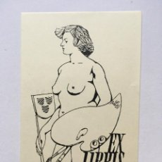 Art: EX-LIBRIS EXLIBRIS RICHARD RILANDER, 1951. DESNUDO FEMENINO PINTURA. Lote 215689272