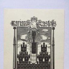 Art: EX-LIBRIS EXLIBRIS TRIADÓ, OPUS 227. CASTILLO ENCAJE DE BOLILLOS. Lote 215689575