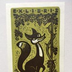 Art: EX-LIBRIS EXLIBRIS RICHTER, OPUS 31, 1970. ZORRO UVAS. Lote 215689771