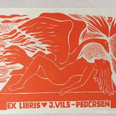 Art: EX-LIBRIS EXLIBRIS JÜRI ARRAK, OPUS 239. LEDA Y EL CISNE. Lote 215689861