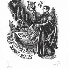 Art: EX-LIBRIS DE ORIOL MARIA DIVI I COLL PARA FRANCESC BERNAT I SIGALÉS – 1999 - (FIRMAT A LLAPIS). Lote 216702596