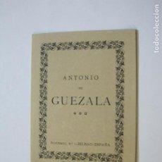 Art: EX LIBRIS-ANTONIO DE GUEZALA-CATALOGO-VER FOTOS-(K-312). Lote 217382981