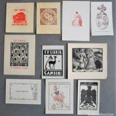 Arte: 10 EX-LIBRIS DE ITALIA. Lote 218807386