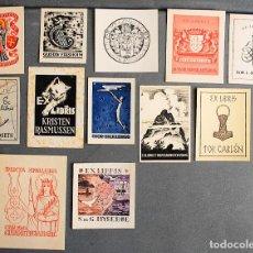 Arte: 12 EX-LIBRIS DE NORUEGA NORWAY KONGERIKET NORGE. Lote 218810966