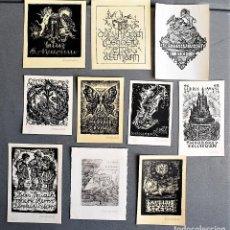 Arte: 10 EX-LIBRIS DE BERTRAND WEISSENBACH WEISSENBACH. Lote 218814978