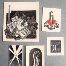 Arte: 5 EX-LIBRIS DE HONA WILBRISCH. Lote 218815363