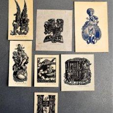 Arte: 7 EX-LIBRIS DE HEAWIG ZUM TOBEL. Lote 218815773
