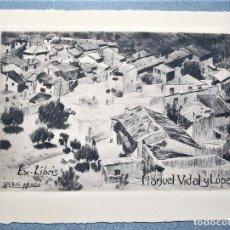 Arte: EX-LIBRIS DE JOSÉ PERIS ARAGÓ, PINTOR VALENCIANO, A MANUEL VIDAL Y LÓPEZ. Lote 218908307
