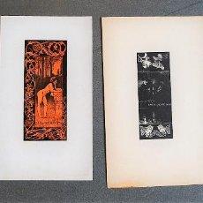 Arte: 4 EX-LIBRIS DE ALEXANDRE DE RIQUER. Lote 219525493