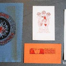 Arte: 4 EX-LIBRIS DE ALEXANDRE DE RIQUER. Lote 219525821