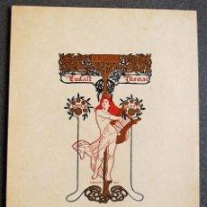 Arte: EX-LIBRIS DE ALEXANDRE DE RIQUER PARA EUDALT THOMAS 1906. Lote 219526777
