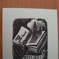 Arte: EX LIBRIS : J. PLA. Lote 219576530