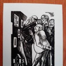 Arte: EX LIBRIS . XILOGRAFÍA DE J. PLA DALMÁU - 1951. Lote 220632301