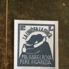 Arte: EX-LIBRIS MA. ISABEL ROSA PERE FIGUEREDA DE COSTANTE COSTANTINI. Lote 220711368