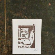 Arte: EX-LIBRIS JURÍDICO PERE PERE FIGUEREDA DE ORIOL MARIA DIVÍ. Lote 220711478