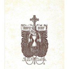 Arte: EX- LIBRIS.- J. M.ª NATTA. ARTE. RELIGIÓN. LIBROS- 1920. Lote 221484627