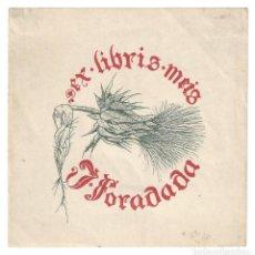 Arte: EX- LIBRIS.- J. FORADADA. ILUSTRADO POR VICTOR OLIVA. ARTE. LIBROS. Lote 221485257