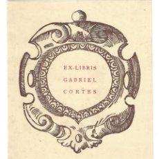 Arte: EX- LIBRIS.- GABRIEL CORTES. ARTE. LIBROS. Lote 221485523