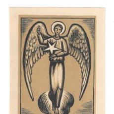 Arte: EX- LIBRIS.- A. E. B. 1955- 1956. ILUSTRADO POR OLLE PINELL. ANGEL. RELIGIÓN. ARTE. LIBROS (FIRMADO). Lote 221559713