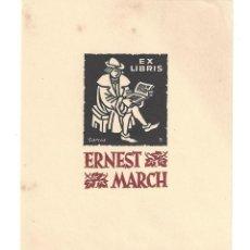 Arte: EX- LIBRIS.- ERNEST MARCH. ILUSTRADO POR GARCIA Nº 5. ARTE. LECTOR. LIBROS. Lote 221559980