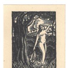 Arte: EX- LIBRIS.- JOSEP BATLLE. DESNUDO. MUJER. ARTE. LIBROS. Lote 221562747