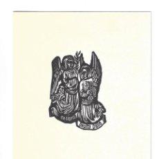 Arte: EX- LIBRIS.- PEPITA PALLÉ. TARJETA DE FELICITACIÓN NAVIDEÑA 1967. XILOGRAFÍA DE N. A. DEGOUY. LIBROS. Lote 221563855
