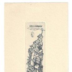 Arte: EX- LIBRIS.- MARY ALICE ERCOLINI. ILUSTRADO POR ALPRESA. GATOS. ANIMALES. ARTE. LIBROS. Lote 221564107