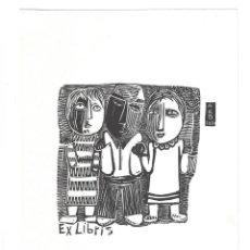 Arte: EX- LIBRIS.- A. E. B. 1960. ILUSTRADO POR ALBERT REIG. ARTE. LIBROS. Lote 221565160