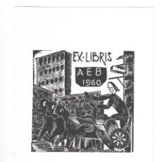 Arte: EX- LIBRIS.- A. E. B. 1960. MARIA ROSA COLOMER. ARTE. LIBROS. Lote 221565310