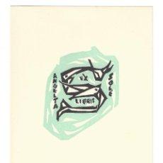 Arte: EX- LIBRIS.- ANGELETA SOLÉ. ILUSTRADO POR ALPRESA. ARTE. LIBROS (16,5 X 12CM). Lote 221565767