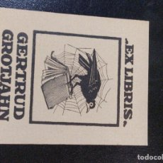 Arte: EX-LIBRIS GERTRUD GROTJAHN 8,5X6,5. Lote 221798075