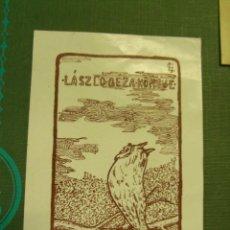 Arte: EX-LIBRIS LASZCO GEZA KONYVE. Lote 222039932