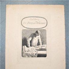 Arte: EX-LIBRIS DE ROB LANGLEY PARA EL DR. ANTON WERNER. 1917.. Lote 222045245