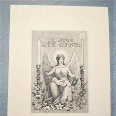Arte: EX-LIBRIS DE ROB LANGLEY PARA ANNE WINKEL 1921. Lote 222046018