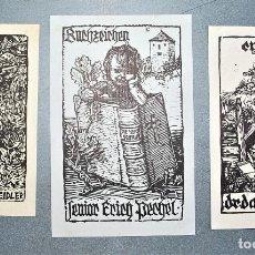 Arte: 3 EX-LIBRIS DE SWITBERT LOBISSER. Lote 222046985