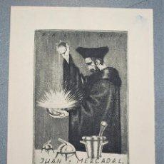 Arte: EX-LIBRIS PARA JUAN MERCADAL. 1923. Lote 222051532