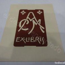 Arte: ANTIGUO EX-LIBRIS ACM. ALFREDO CORDERAS MESTRES. AÑO 1951. 80 X 60 MM. Lote 222106883