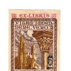 Arte: EX-LIBRIS DE JOAQUIM PLÀ CARGOL ( GIRONA, 1882 - 1978 ) - BUEN ESTADO.- VER DESCRIPCIÓN.. Lote 222515598