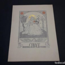 Arte: EXLIBRIS FREDERICA MIRACLE. Lote 223628902