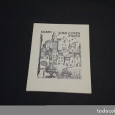 Arte: EXLIBRIS JOAN COSTA I PAGES. Lote 223631863