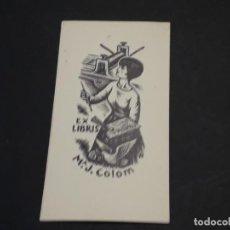 Arte: EXLIBRIS DE M. J. COLOM. Lote 223633361