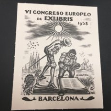 Arte: EXLIBRIS VI CONGRESO EUROPEO DE EXLIBRIS 1958. Lote 223684726