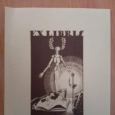 Arte: EX LIBRIS DE J. PLA DALMAU - 1947. Lote 223778100