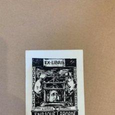 Arte: EX LIBRIS / BOOKPLATE / ENRIQUE LABORDE. Lote 229972285
