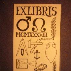 Arte: EX-LIBRIS (DIMENSIONES: 11X6 CM). Lote 230367080