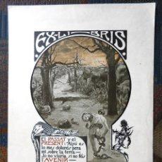 Art: EX-LIBRIS CARLES RAHOLA. Lote 230367935