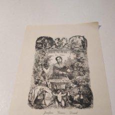 Arte: EX-LIBRIS DE JOSEFINA GÓMEZ DAVID - XILOGRAFÍA DE A. ALLADO - GRAN TAMAÑO. Lote 232326565
