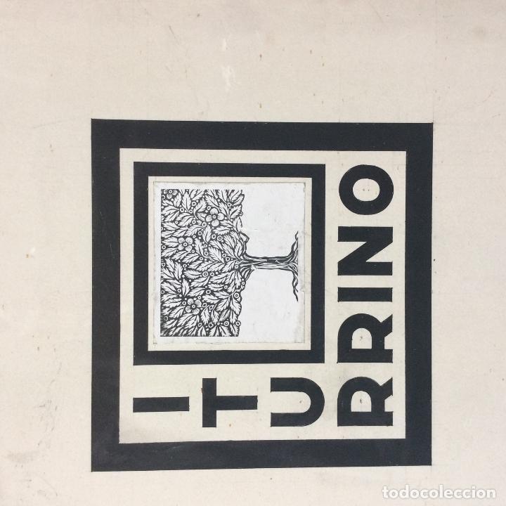 Arte: ITURRINO--Boceto exlibris apellido ITURRINO, original ,ideal coleccionistas - Foto 2 - 234391190