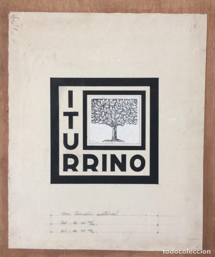 ITURRINO--BOCETO EXLIBRIS APELLIDO ITURRINO, ORIGINAL ,IDEAL COLECCIONISTAS (Arte - Ex Libris)